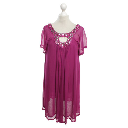 Antik Batik Tunikakleid in Fuchsia