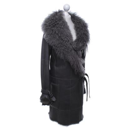 Plein Sud Cappotto di pelliccia in grigio