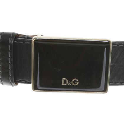 D&G riem in zwart