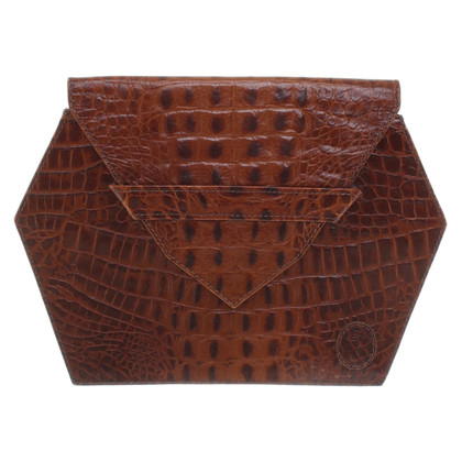 Other Designer Trussardi - clutch with reptile embossing
