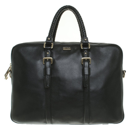 Hugo Boss Briefcase with laptop bag in black