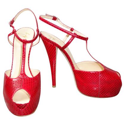 Giuseppe Zanotti Peep-toes snake leather