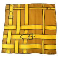 Burberry Sciarpa di seta con motivo cintura