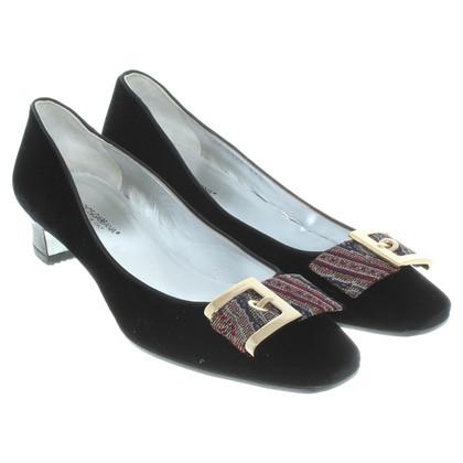 Dolce & Gabbana Black velvet pumps