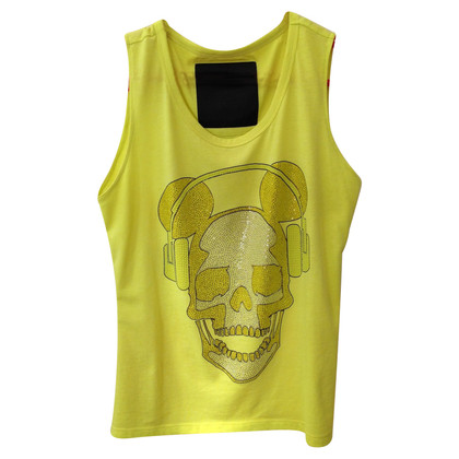 Philipp Plein Top with skull and crossbones motif
