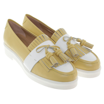 Andere Marke Pas de rouge - Slipper in Gelb/Weiß