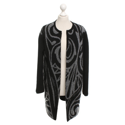 Luisa Cerano Open Cardigan in Black / grey