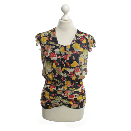 Anna Sui Silk Top met patroon