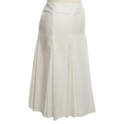 Max Mara Pleated skirt in white
