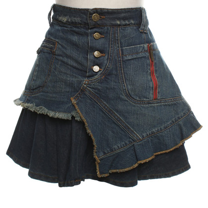 Kenzo Denim skirt in destroyed look
