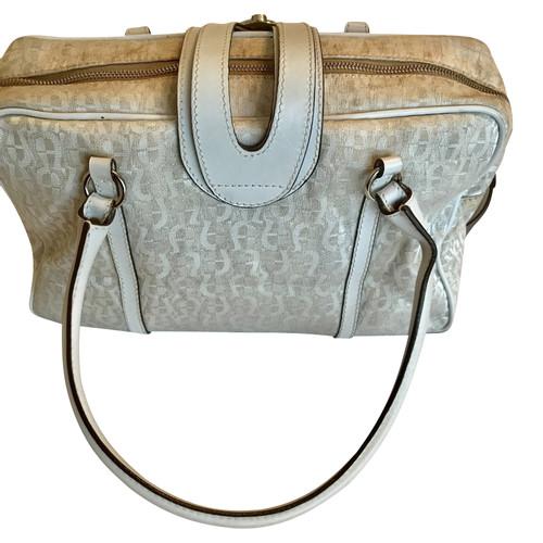 Aigner Handtasche mit Logo Muster Second Hand Aigner