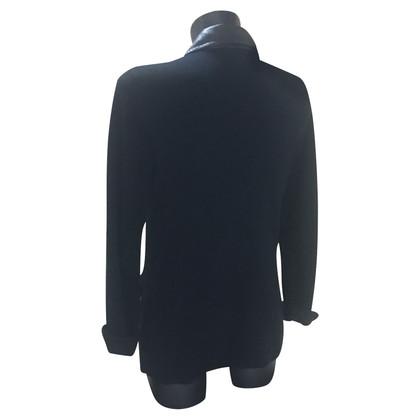 Polo Ralph Lauren Giacca in maglia con collo in ecopelle