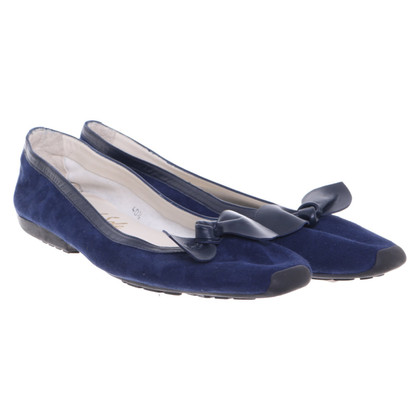 French Sole Ballerinas in blue