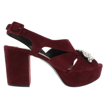 Miu Miu Sandals in Bordeaux