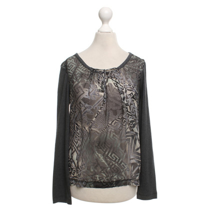 Marc Cain top in grey / Multicolor