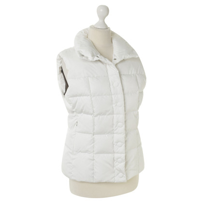 Bogner Quilted sleeveless jacket in white