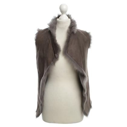 Karl Donoghue Fur waistcoat in grey