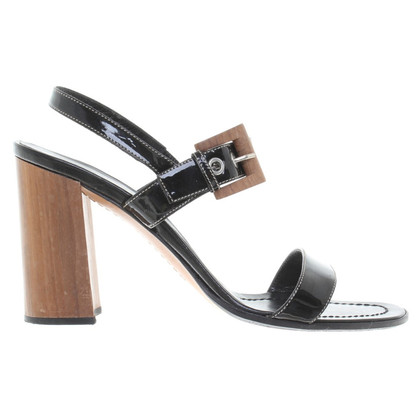 Prada Sandals Patent Leather