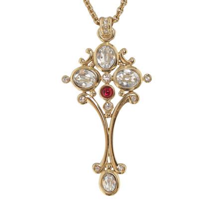 Christian Dior collier avec pendentif croix