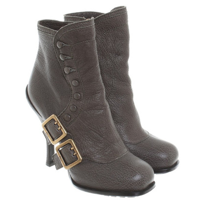 Christian Dior Ankle boots in olive