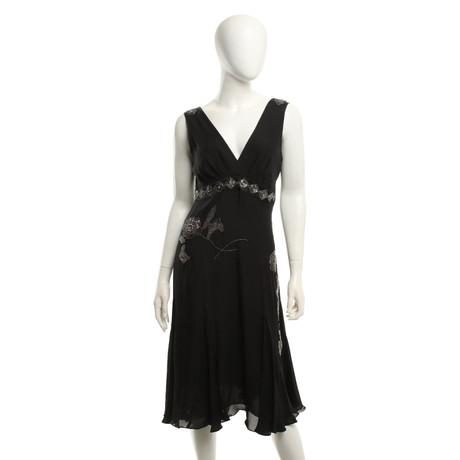 Ted Seide Kleid Ted aus Baker Kleid Schwarz Schwarz Seide Baker aus ...