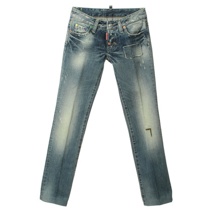 Dsquared2 Gewassen jeans met gekleurde klinknagels