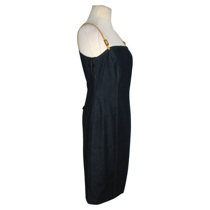 Escada Denim dress with leather