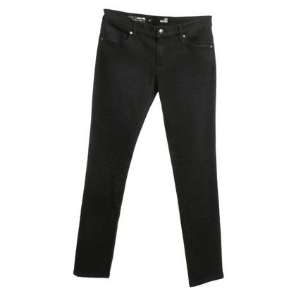 Moschino Jeans with decorative stones in black