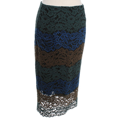 Sandro Pencil skirt with lace