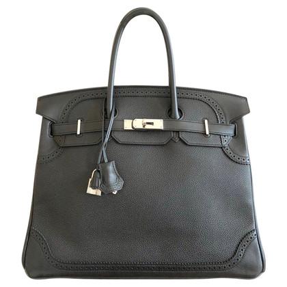 "Hermès ""Birkin Bag 35 Ghillies Togo Noir PHW"""