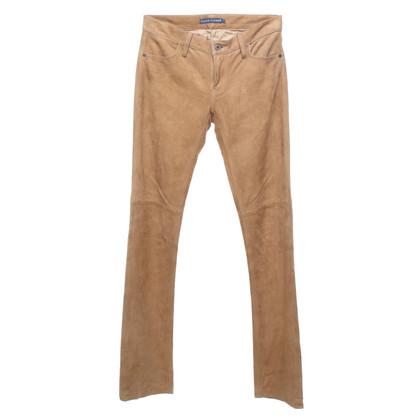 Ralph Lauren Leren broek in beige