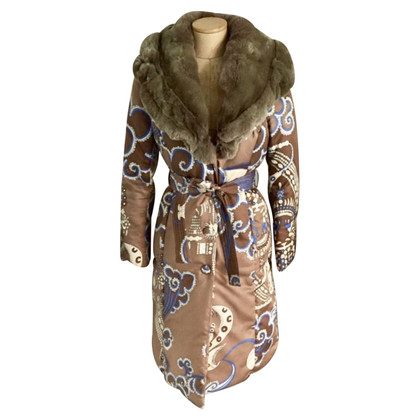 Emilio Pucci Down coat with fur collar