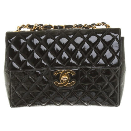 "Chanel ""Jumbo Flap Bag"" Patent Leather"