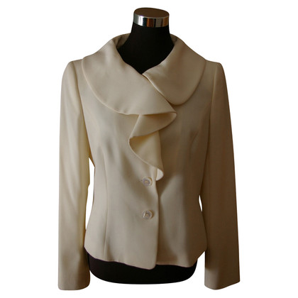 Escada Blazers in woolen white