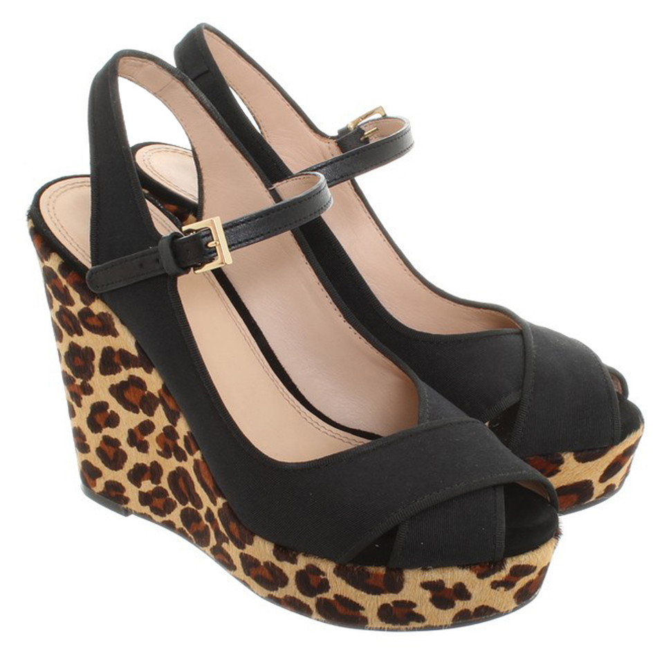 Tory Burch Wedges with Animal-Print