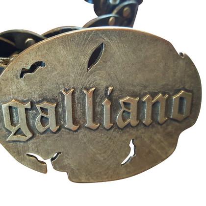 John Galliano Zwarte riem
