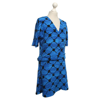 Balenciaga zijden jurk in Bicolor