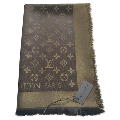 Louis Vuitton Monogram glansdoek in Brown / Gold