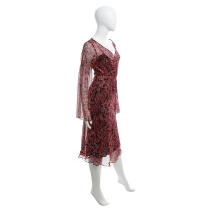 """Diane von Furstenberg zijden jurk """"Austin"""" met Lippenstift Print"""