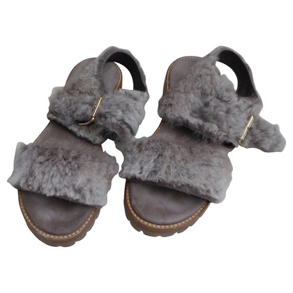 Other Designer AGL - sandals with rabbit fur