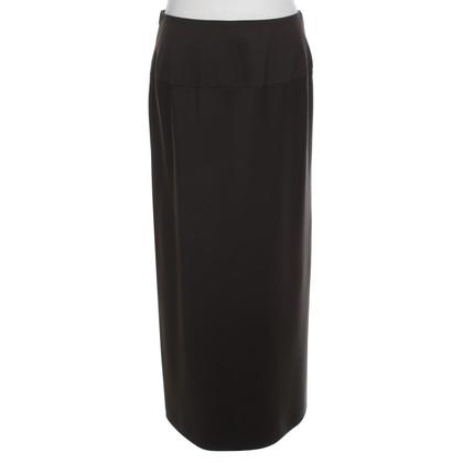 René Lezard Langer skirt in brown