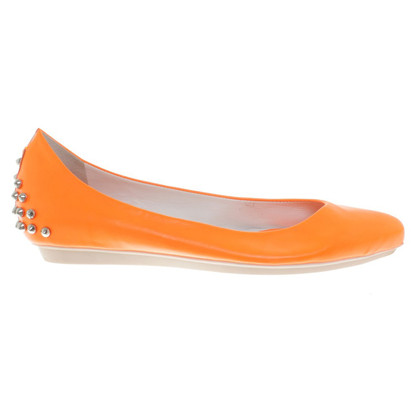 McQ Alexander McQueen Ballerinas in Neon-Orange