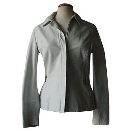 Gianni Versace Leather blazer in white