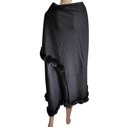 J. Mendel Cashmere cape with fox fur trim