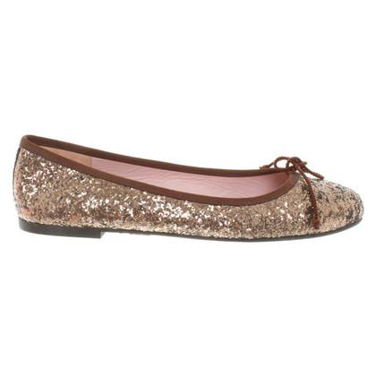 Pretty Ballerinas Ballerina's met glitter coating