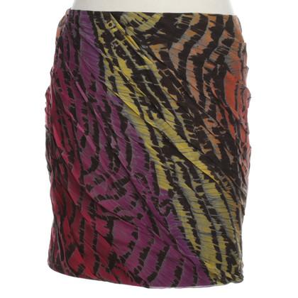 Diane von Furstenberg Miniskirt with Batik Print