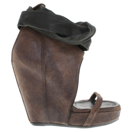 Rick Owens Leather wedges