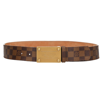 Louis Vuitton Belt from Damier Ebene Canvas