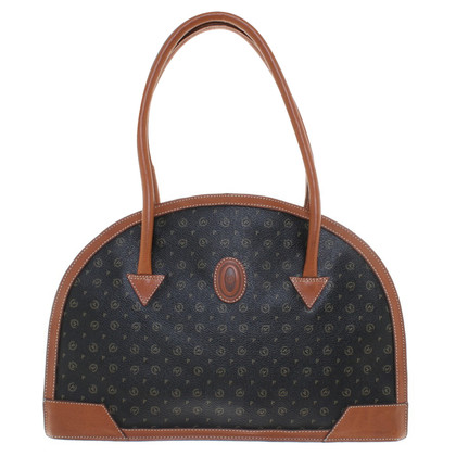 Pollini Handbag with logo pattern in brown