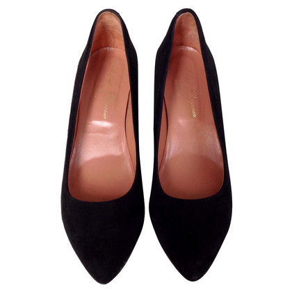 Robert Clergerie Black suede pumps